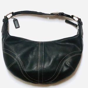 Luxury HOBO Black Leather Coach Bag